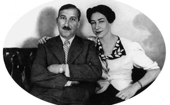 Stefan Zweig (l) und seine