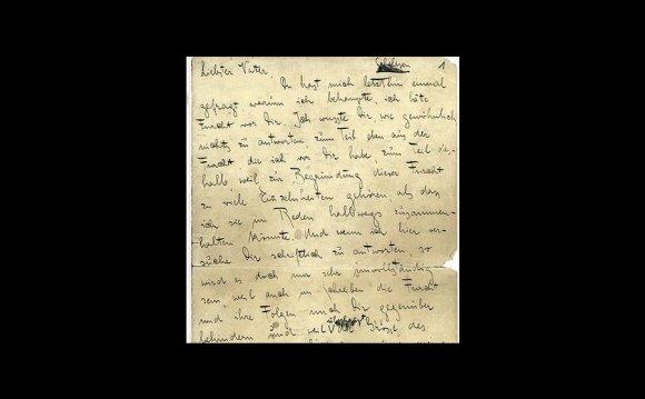 Franz Kafka critiques his dad