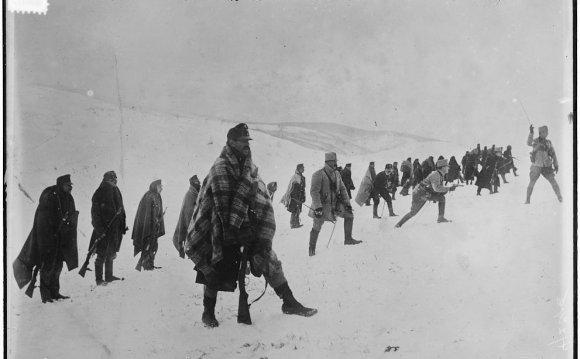 Austrian troops advancing in