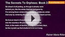 Rainer Maria Rilke - The Sonnets To Orpheus: Book 2: X